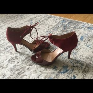 FRANCO SARTO BURGUNDY SUEDE SHOES SIZE 6.5 NEW